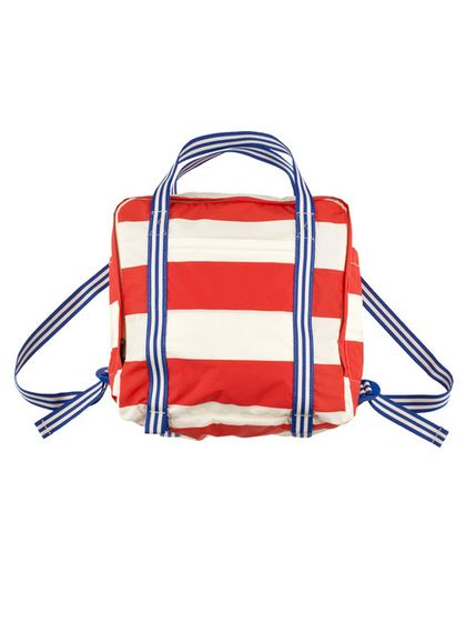 tinycottons SS18 Stripes BackPack Off-White/Carmine