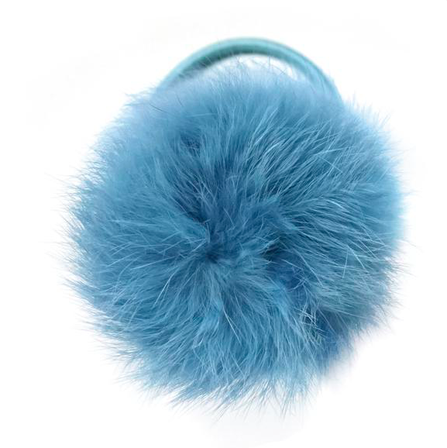 Verity Jones Pom Pom Hair Elastic Large Antique Blue
