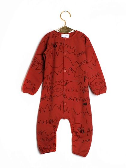 Wolf&Rita AW18 Baby Overall Laureano Brick Love and Love