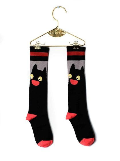 Wolf&Rita AW18 Long Socks Black Cat