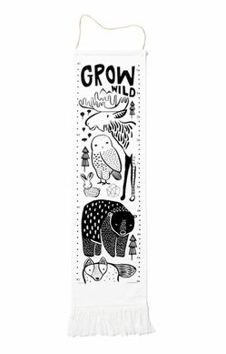 Wee Gallery Growing Wild Textile Growth Chart - Nordic Animals